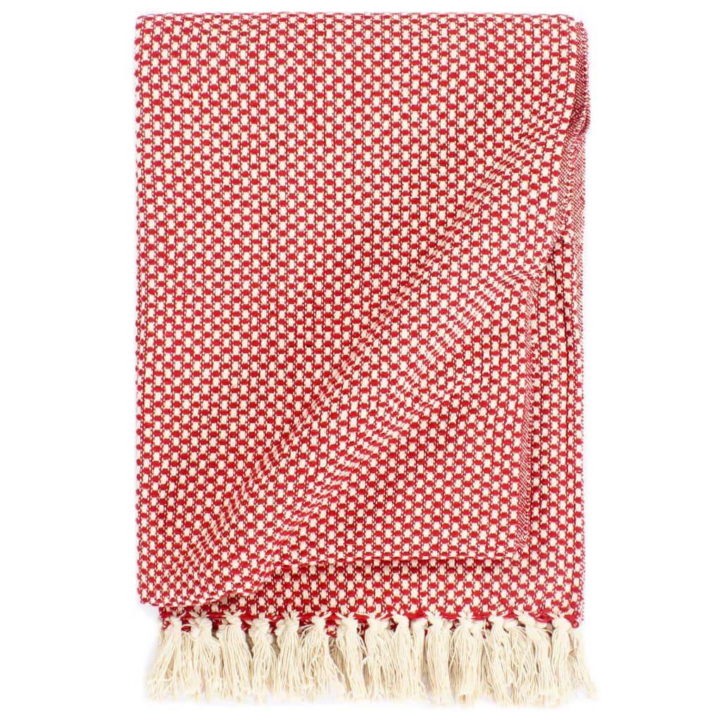 Přehoz bavlna 125 x 150 cm červený