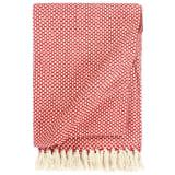 vidaXL Manta em algodão 125x150 cm vermelho