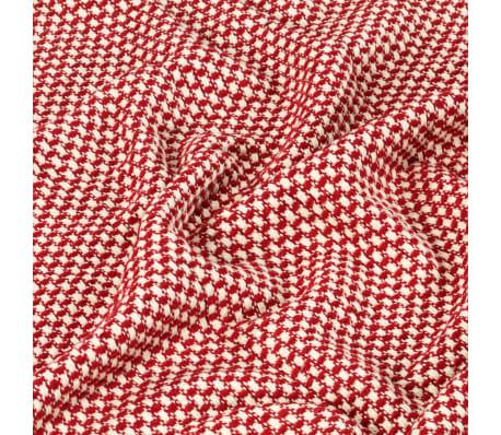 vidaXL Filt bomull 125x150 cm röd[4/5]