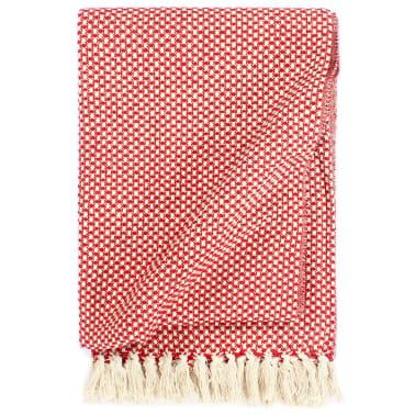 vidaXL Filt bomull 160x210 cm röd[1/5]