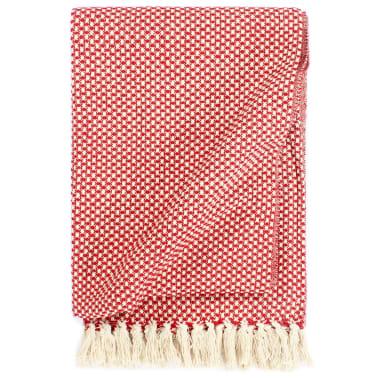 vidaXL Filt bomull 220x250 cm röd[1/5]