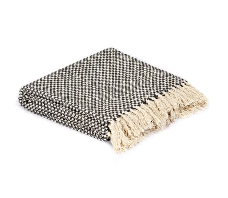 vidaXL Filt bomull 125x150 cm antracit[2/5]