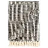 vidaXL Декоративно одеяло, памук, 160x210 см, антрацит