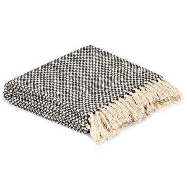 vidaXL Filt bomull 220x250 cm antracit[2/5]