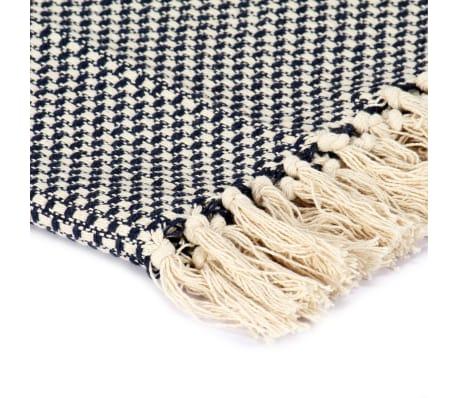 vidaXL Filt bomull 220x250 cm marinblå[3/5]