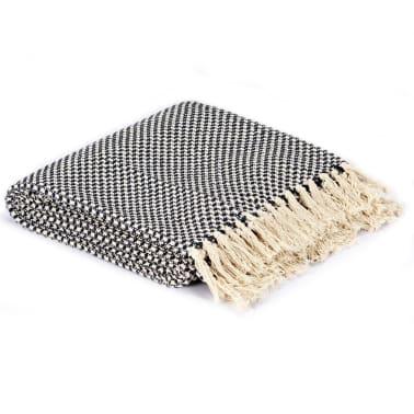 vidaXL Filt bomull 220x250 cm marinblå[2/5]