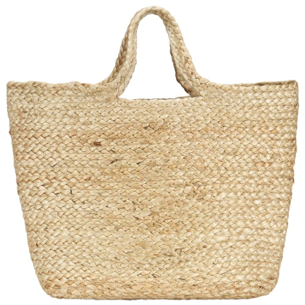 vidaXL Nákupní taška přírodní ručně vyrobená juta