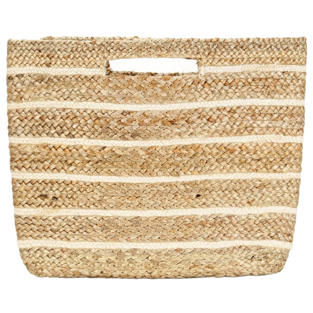Nákupní taška přírodní pruhovaná ručně vyrobená juta
