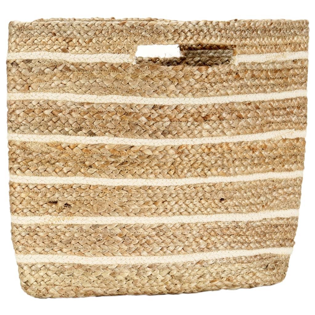 vidaXL Nákupní taška přírodní pruhovaná ručně vyrobená juta
