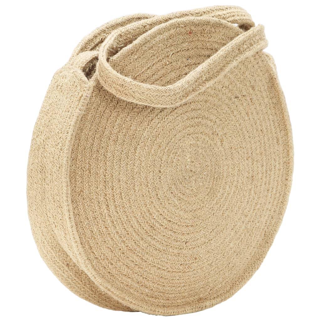 Kulatá taška přes rameno přírodní ručně vyrobená juta