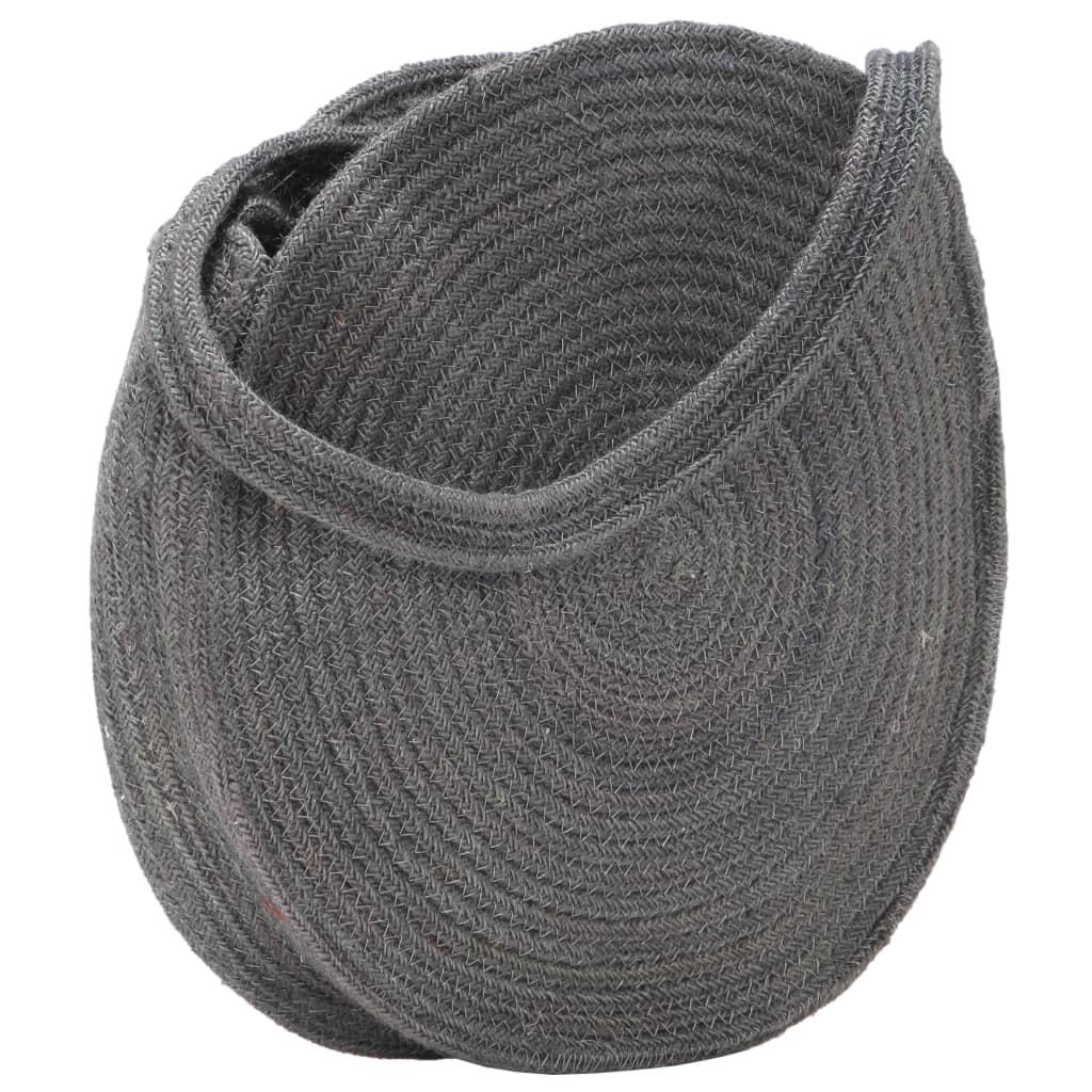 Kulatá taška přes rameno tmavě šedá ručně vyrobená juta