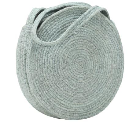 vidaXL Okrągła torebka na ramię, oliwkowa, ręcznie robiona, jutowa