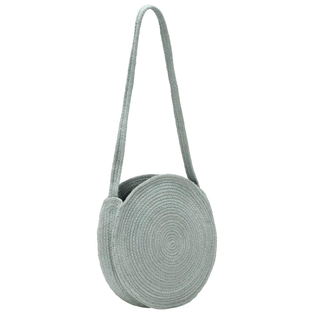 vidaXL Kulatá taška přes rameno olivově zelená ručně vyrobená juta