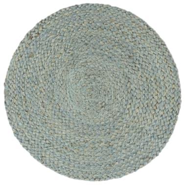 vidaXL Prestierania 6 ks olivovo-zelené 38 cm jutové okrúhle[2/4]