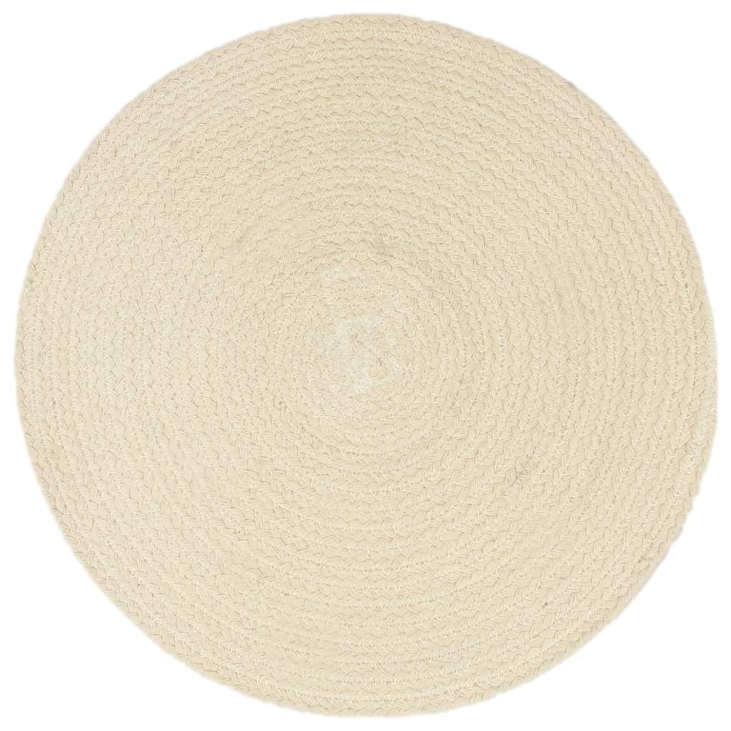vidaXL Prostírání 6 ks přírodní 38 cm kulaté bavlna