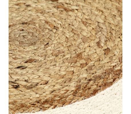 vidaXL Prestierania 4 ks prírodné 38 cm jutové a bavlnené okrúhle[4/4]