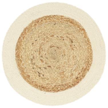 vidaXL Prestierania 4 ks prírodné 38 cm jutové a bavlnené okrúhle[2/4]