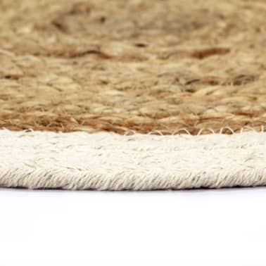 vidaXL Prestierania 4 ks prírodné 38 cm jutové a bavlnené okrúhle[3/4]