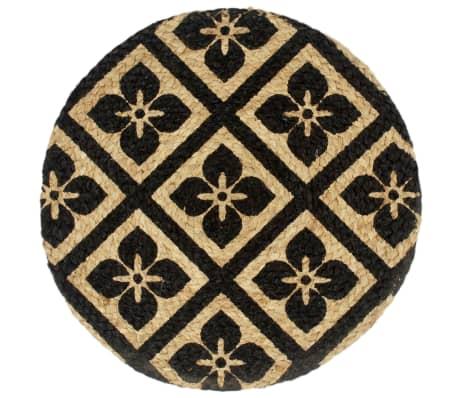 vidaXL Prestierania 6 ks čierne 38 cm jutové okrúhle[2/4]