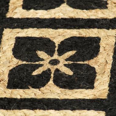 vidaXL Prestierania 6 ks čierne 38 cm jutové okrúhle[4/4]
