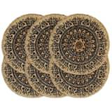 vidaXL Prestierania 6 ks tmavomodré 38 cm jutové okrúhle