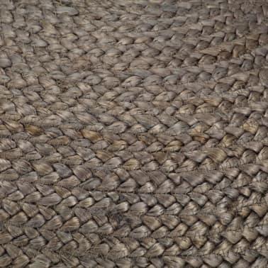 vidaXL Taburet lucrat manual, gri deschis, 45 x 30 cm, iută[3/3]