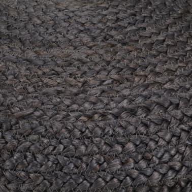 vidaXL Pufas, tamsiai pilkos sp., 45x30cm, džiutas, rankų darbo[3/3]