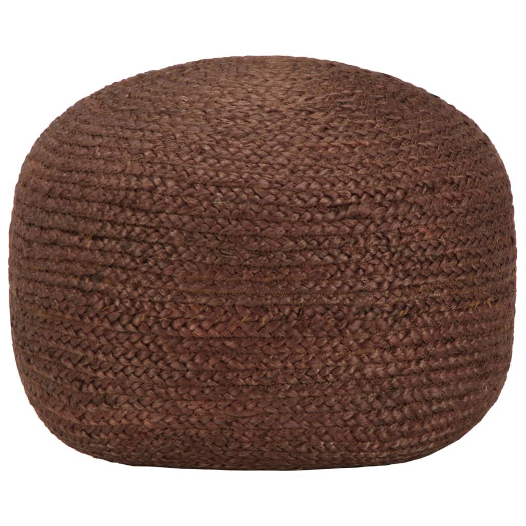 Ručně vyrobený sedací puf hnědý 40 x 45 cm juta