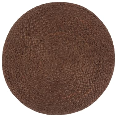 vidaXL Ręcznie robiony puf, brązowy, 40 x 45 cm, juta[2/3]