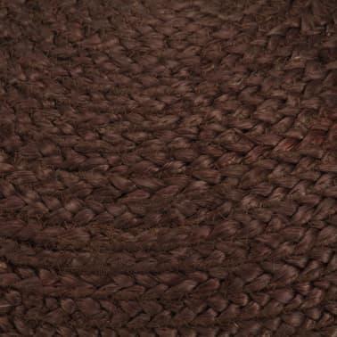 vidaXL Ręcznie robiony puf, brązowy, 40 x 45 cm, juta[3/3]