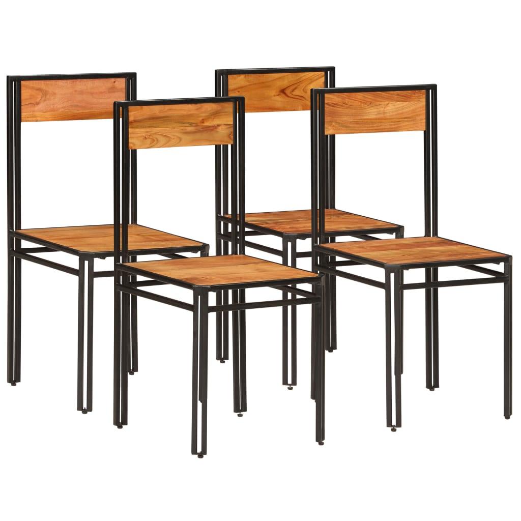 vidaXL Καρέκλες Τραπεζαρίας 4 τεμ. Ξύλο Ακακίας/Φινίρισμα Sheesham