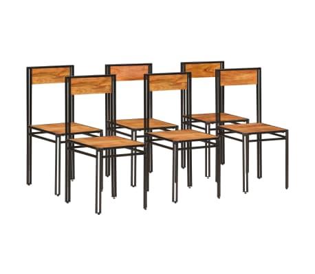 vidaXL Scaune de bucătărie 6 buc. lemn masiv acacia finisaj sheesham