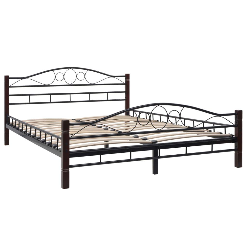 vidaXL Bed met traagschuim matras metaal 140x200 cm