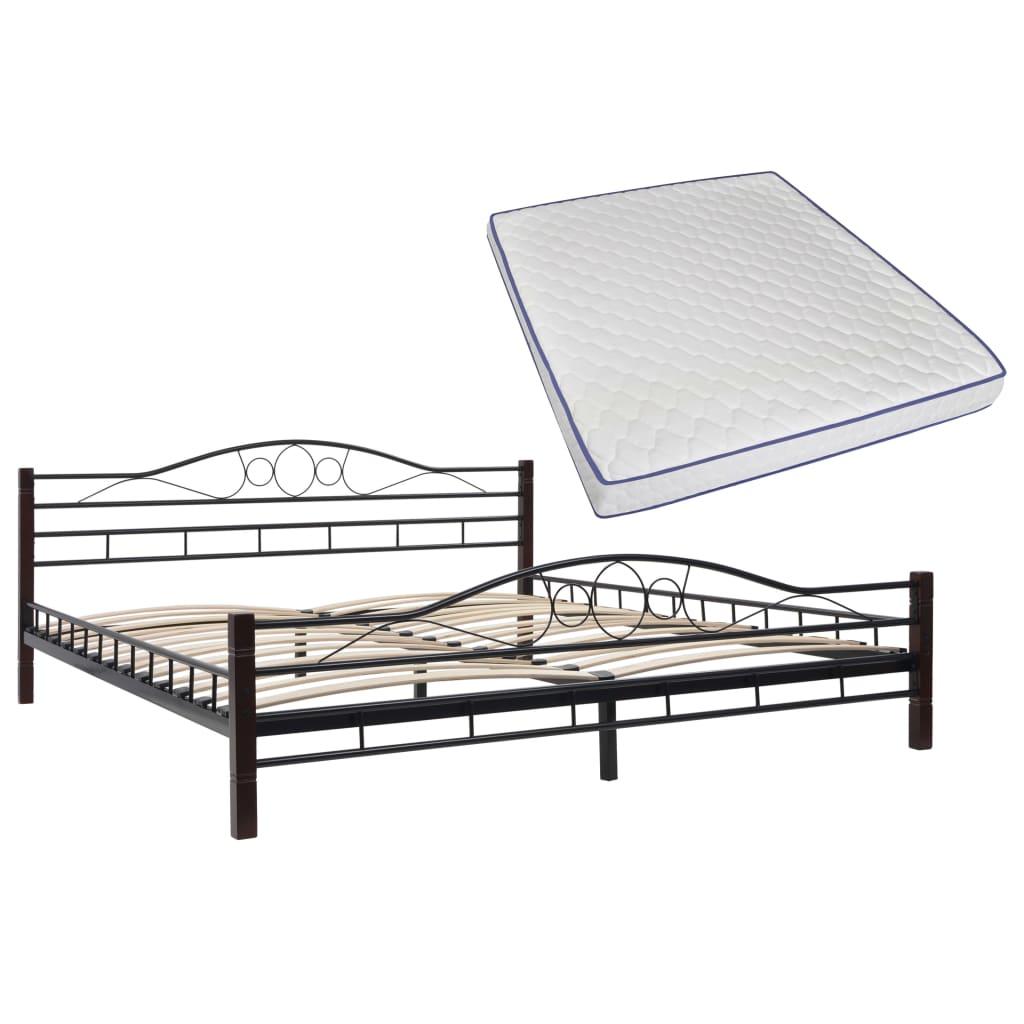 vidaXL Κρεβάτι 180 x 200 εκ. Μεταλλικό με Στρώμα Αφρού Μνήμης