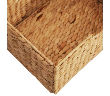 vidaXL Buffet 90x33,5x83 cm Bois de chêne solide et jacinthe d'eau[8/9]
