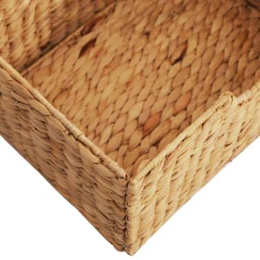 vidaXL Buffet 90x33,5x83 cm Bois de chêne solide et jacinthe d