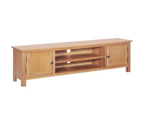 vidaXL TV Cabinet 165x36x46 cm Solid Oak Wood-picture