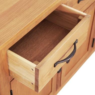 vidaXL Šoninė spintelė, 112x33,5x70 cm, ąžuolo medienos masyvas[4/6]