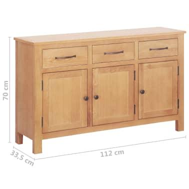 vidaXL Šoninė spintelė, 112x33,5x70 cm, ąžuolo medienos masyvas[6/6]