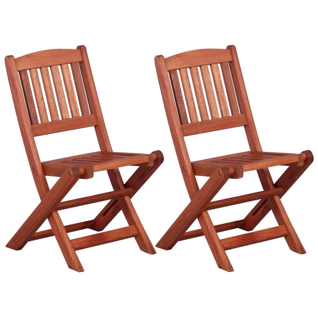 vidaXL Dětské jídelní židle 2 ks masivní eukalyptové dřevo