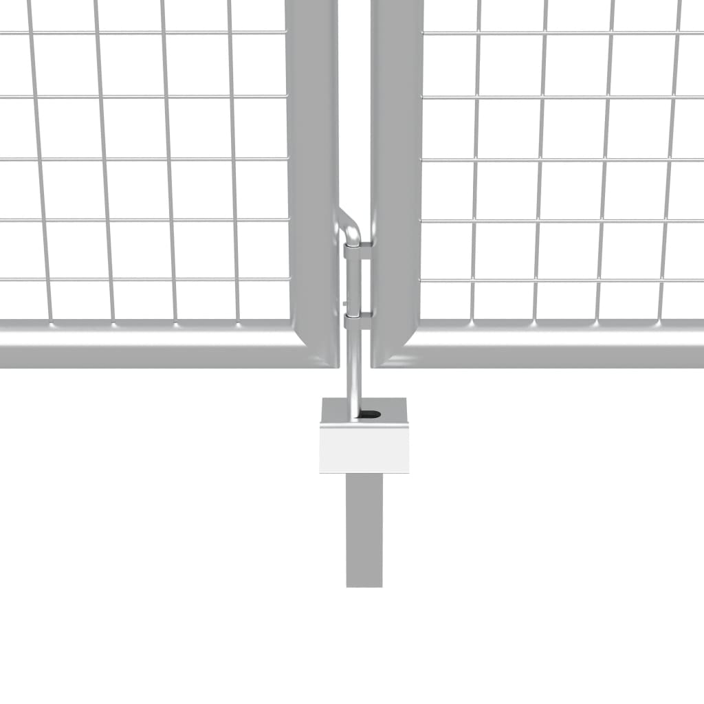 Poort 415x150 cm gegalvaniseerd staal zilverkleurig