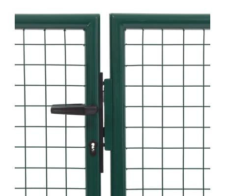 vidaXL Vrtna vrata čelična 350 x 150 cm zelena[3/6]