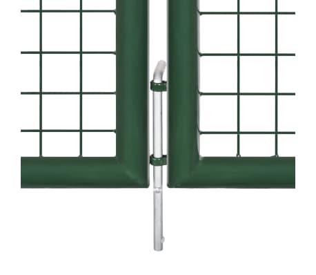 vidaXL Vrtna vrata čelična 350 x 150 cm zelena[4/6]