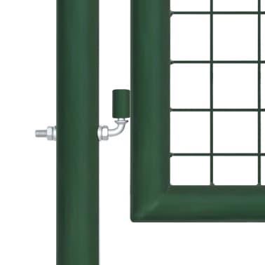 vidaXL Vrtna vrata čelična 350 x 150 cm zelena[5/6]