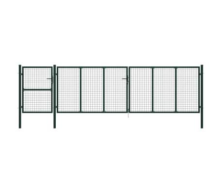 vidaXL Poort 500x125 cm staal groen