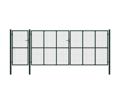 vidaXL Poort 500x175 cm staal groen