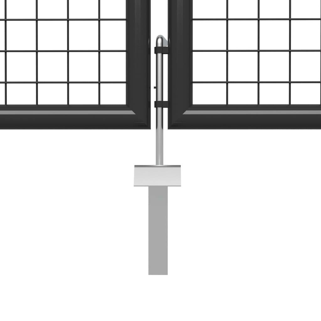 vidaXL Poort 500x75 cm staal antraciet