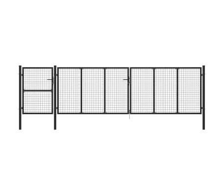 vidaXL Portail de jardin Acier 500 x 125 cm Anthracite