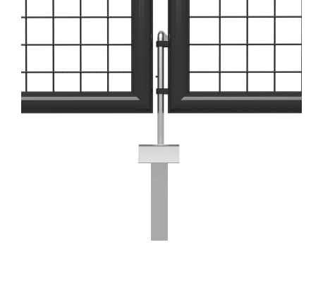 vidaXL Poort 500x200 cm staal antraciet[4/5]