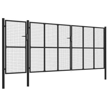 vidaXL Poort 500x200 cm staal antraciet[2/5]